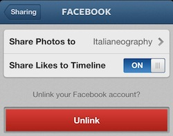 Instagram integrazione Facebook