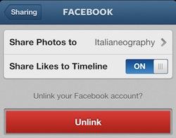 Instagram integrazione Facebook