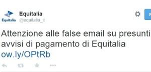 Mail truffa Equitalia