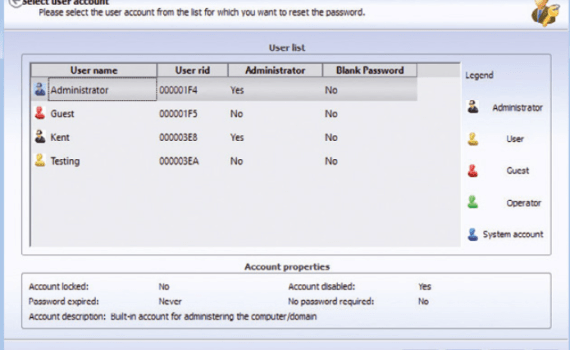 Recuperare password di windows