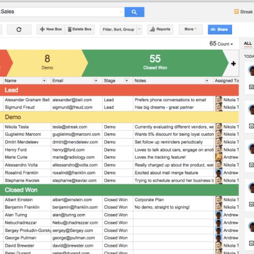 Streak per gmail