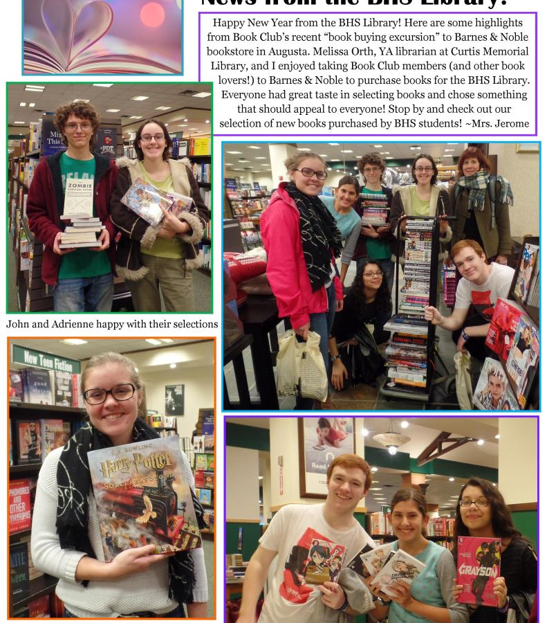 BHS Library Newsletter January 2016