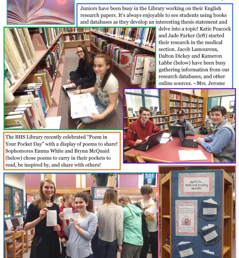 BHS Library Newsletter May 2017 (2)