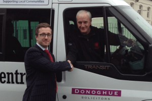Photo of Kevin Donoghue, solicitor, with Keith Lloyd of The Brunny.