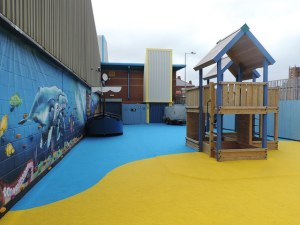 Junior Kids Club members love our outdoor play area.