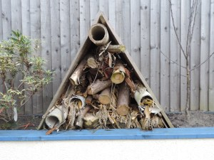 The specially- constructed bug hotel at Brunswick Youth and Community Centre.