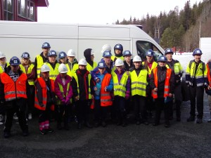 A group picture of the young people from Brunswick Youth and Community Centre visiting Hydro plant in Norway.
