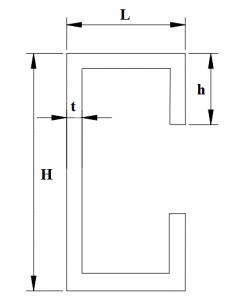 schita tehnica profil c