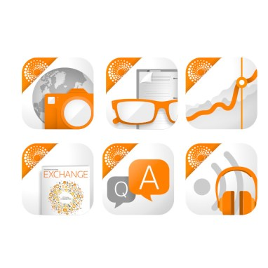 Thomson Reuters mobile app icon designs