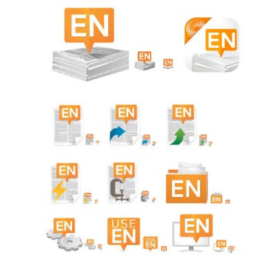 EndNote applicationicon family