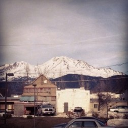 Mt. Shasta from the town.