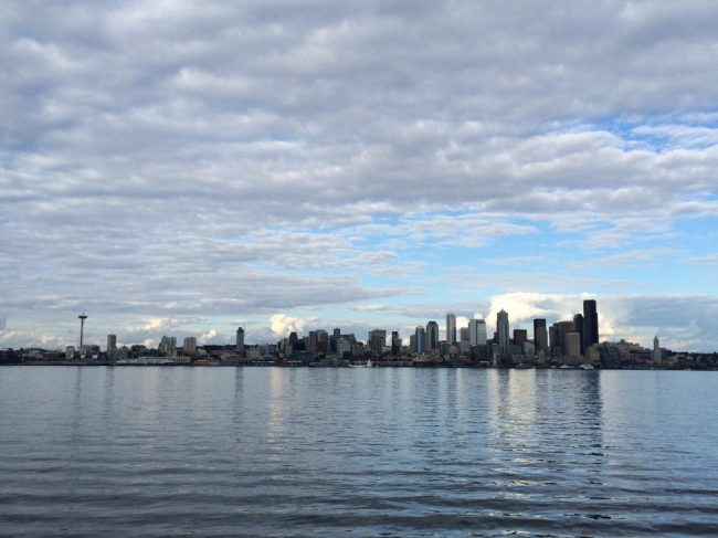 Seattle skyline from our boat ride tour