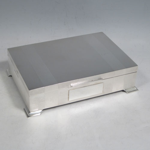 Cigar And Cigarette Boxes In Antique Sterling Silver Bryan