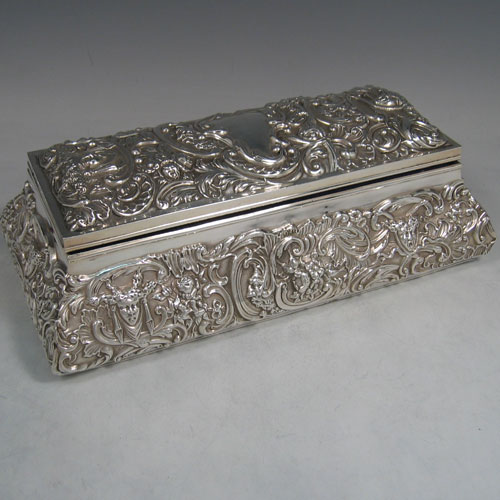 Jewellery Boxes In Antique Sterling Silver Bryan Douglas