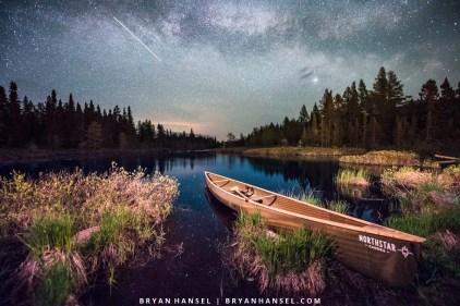 northstar canoe under the milky way