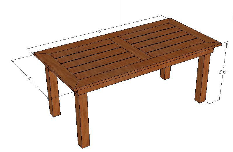 bryan s site diy cedar patio table plans