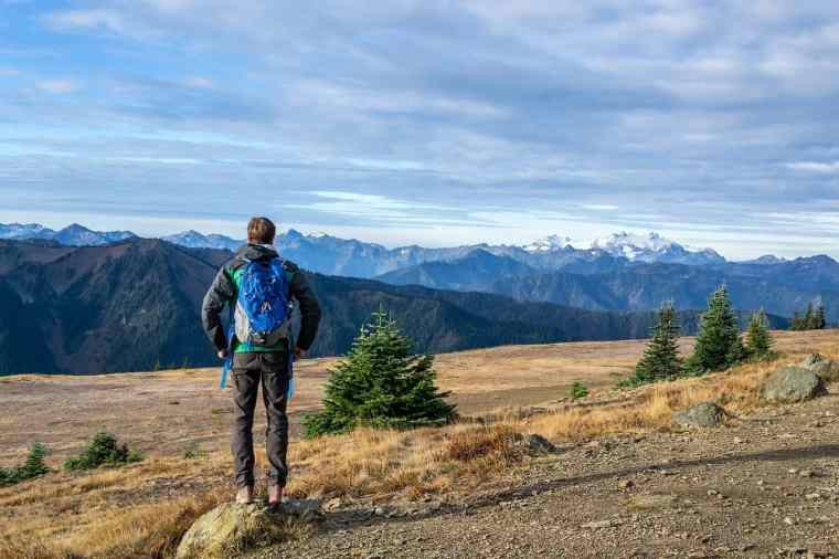 man hiking photo