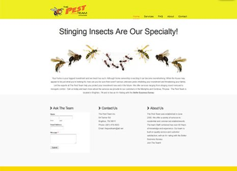Pest Control Web Development and Design