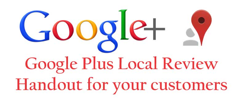 Google Review Handout for Customers
