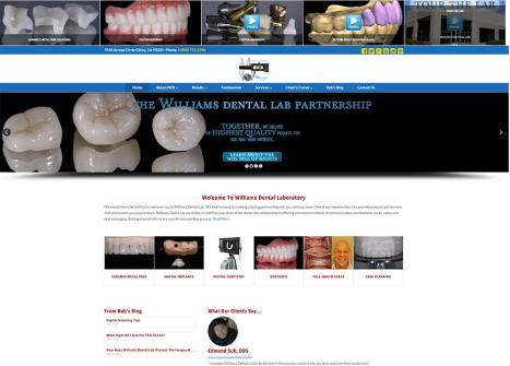 Williams Dental Lab Web Site Design
