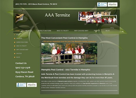 Tennessee Pest Control Website Design
