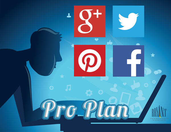 Pinterest, Facebook, Google+ and Twitter Social Media Mangement