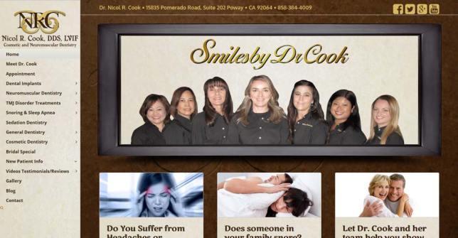 Dental Website for Dr. Nicol Cook