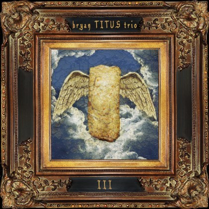 Cover of new album: painting of winged burrito in gilt frame