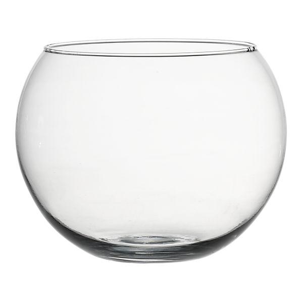 VASE GLASS BUBBLE BOWL 10 INCH D Rentals Lexington KY