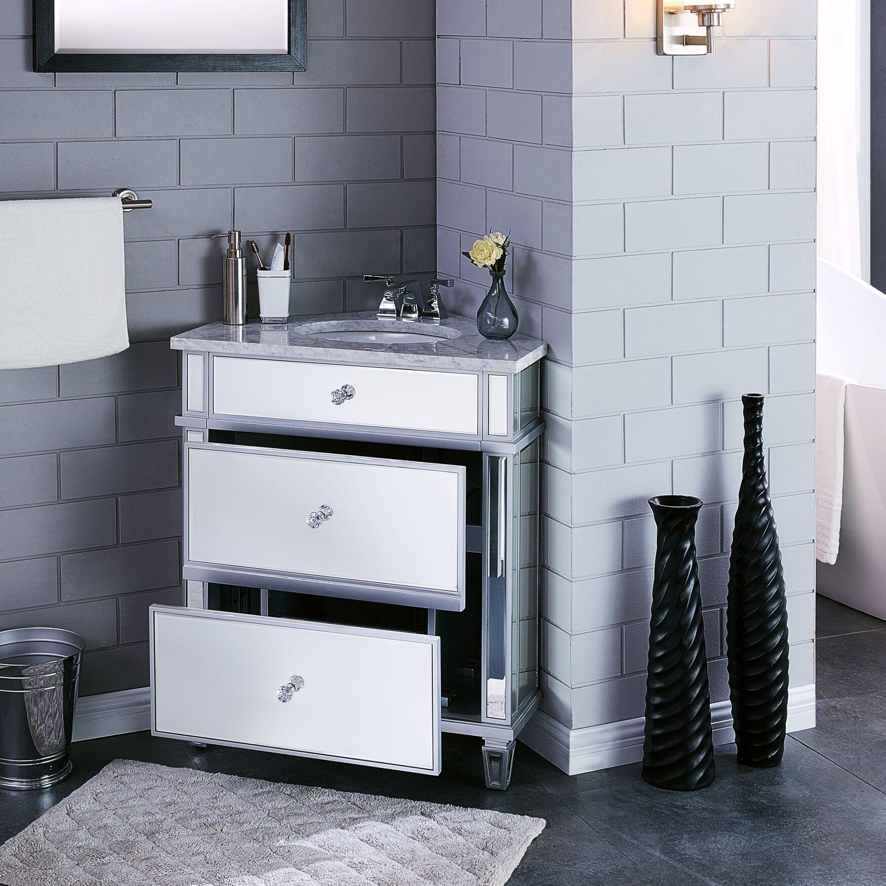 corner vanity cabinet with sink