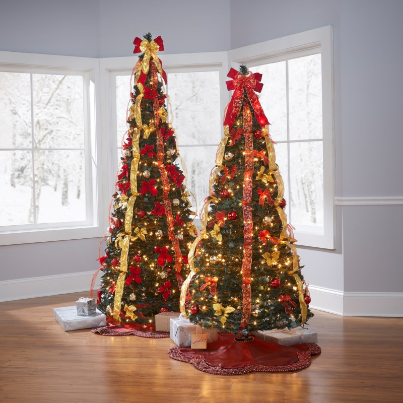 7 ft pre decorated pop up christmas tree ...