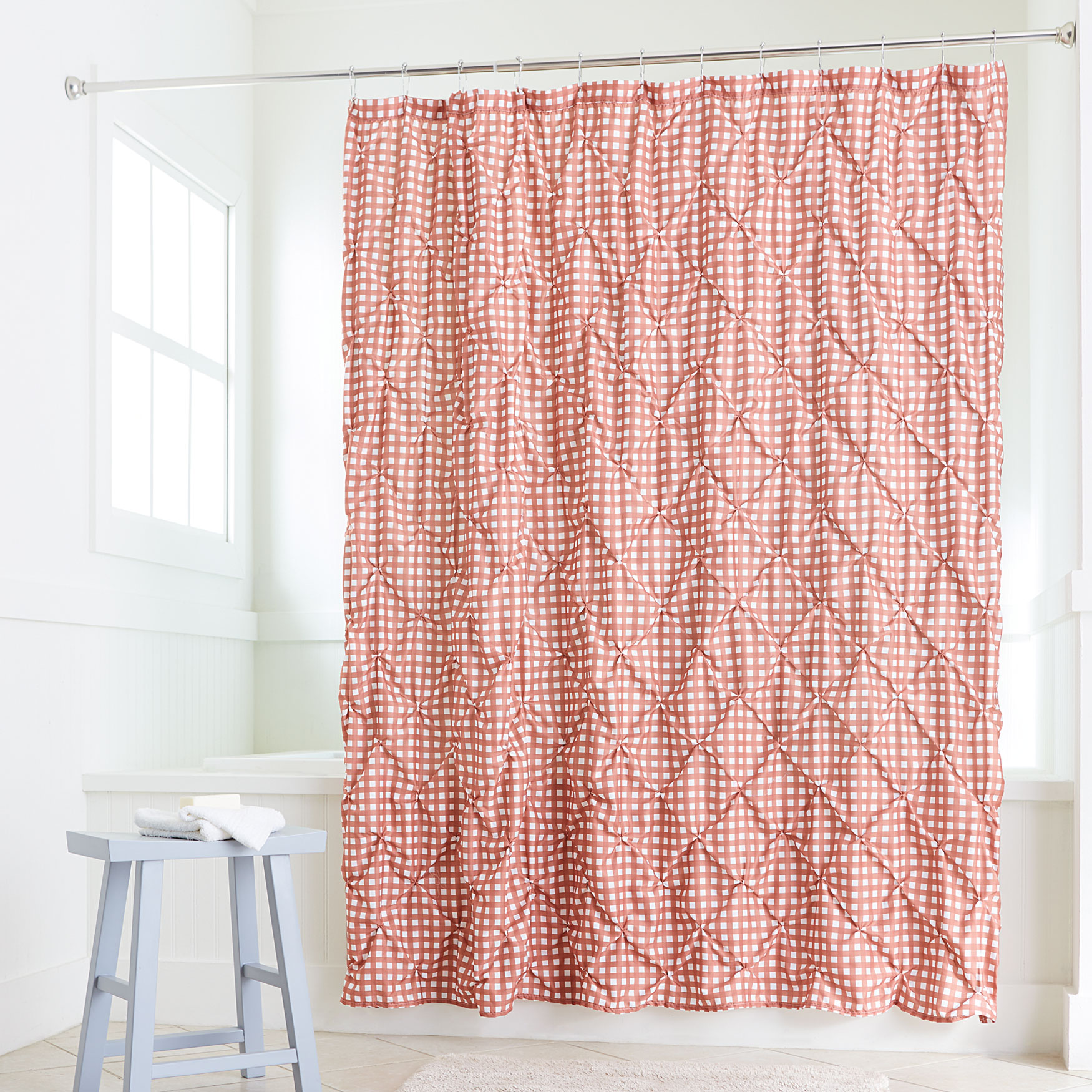 lucy gingham shower curtain brylane home