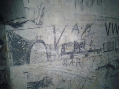 Miners Grafitti. Photo-Huw