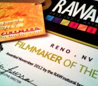 Voted Filmmaker of the Year – RAW Artists Reno Awards Competition 2012