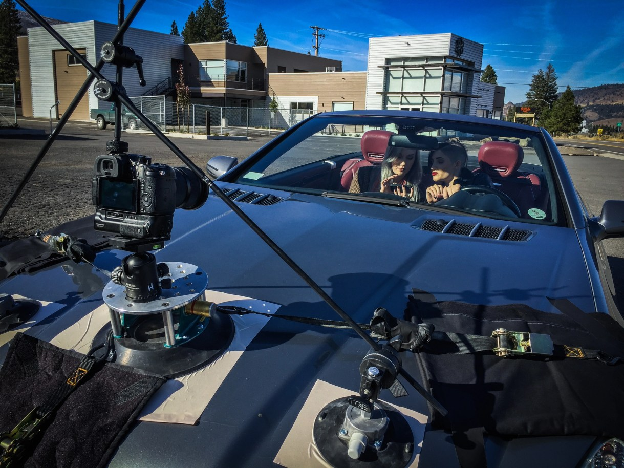Car mount camera for commercial production.