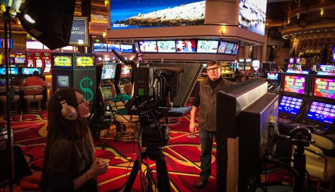 Directing a promo for Peppermill Casino.
