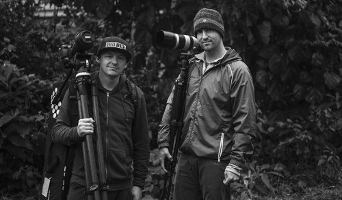 (From Left) Cinematographers Bryon Evans and Brian Williams for Inspire Hope film.