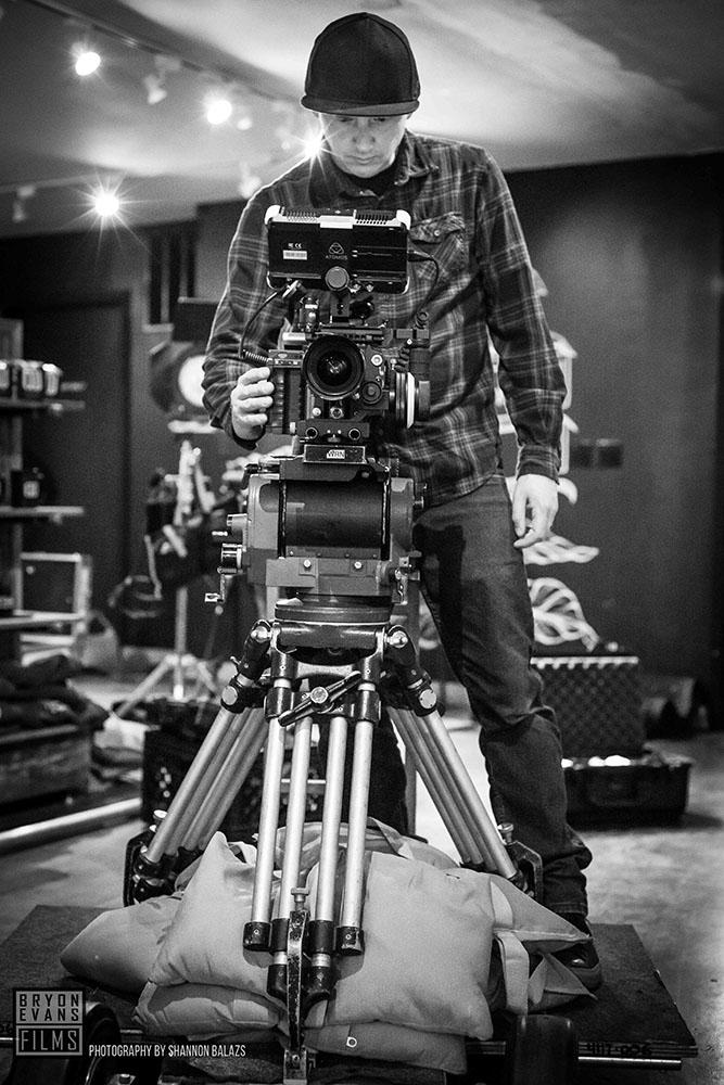 Director/DP Bryon Evans filming Zack Teran Group