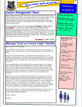 Weekly newsletter w/e 5th April 2019