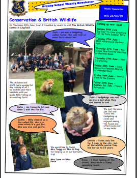 Weekly newsletter w/e 21st June