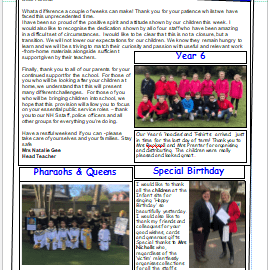 Weekly Newsletter w/e 20th March 2020