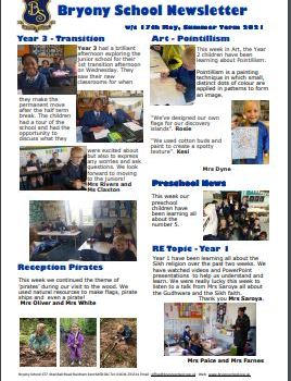 Newsletter w/c 17th May 2021