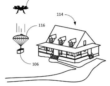 amazon parachute a colis