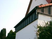 Fassadenverkleidung Ausfuehrung in Stehfalztechnik Kupfer2