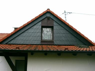 Fassadenverkleidung Naturschiefer Stehfalztechnik Kupfer