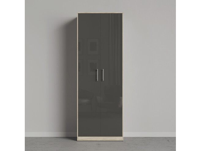 Smartbett Cabinet 80 Cm 2 Door Oak Sonoma Anthracite High Gloss 434 91