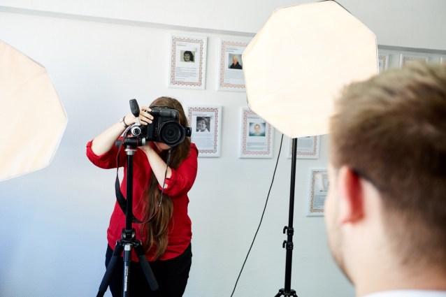 Fotograf in der Personalvermittlung