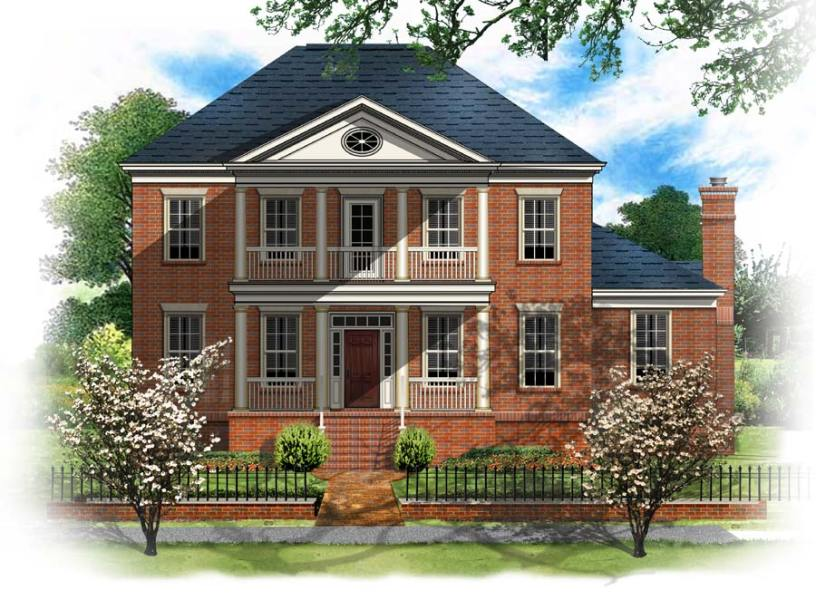 BSA Home Plans  Longfellow House II Greek Revival