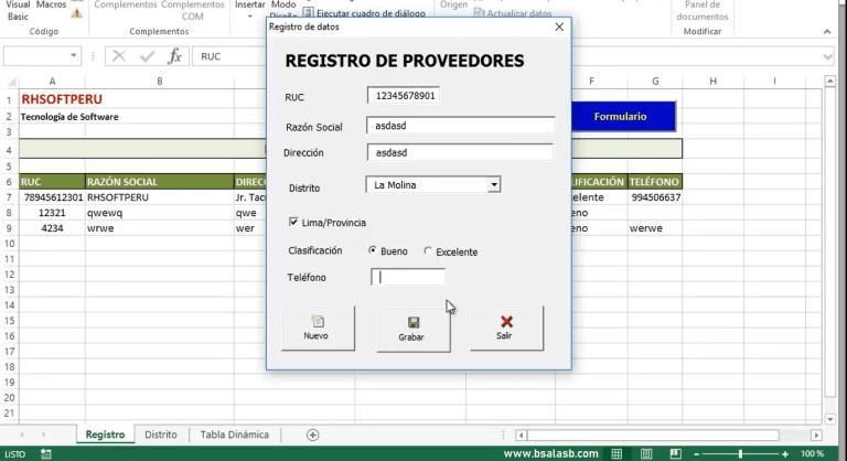Lee más sobre el artículo EXCEL: Registro de datos con programación VBA
