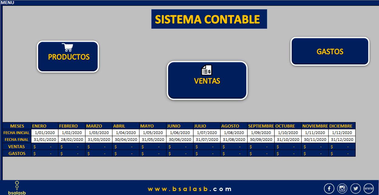sistema contable para micro y pequeñas empresas en Excel